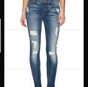 7 for all mankind the ankle skinny Jean's 29